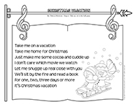 Songs & rhymes-Christmas vacation
