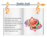 Songs & rhymes-Exotic fruit