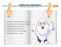 Songs & rhymes-Halloween characters