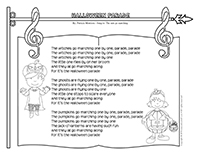 Songs & rhymes-Halloween parade