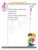 Songs & rhymes-Handmade gifts