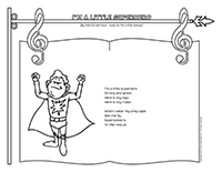Songs & rhymes-I?m a little-superhero.