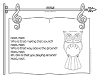 Songs & rhymes-Owls