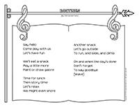 Songs & rhymes-Routines