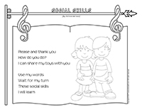 Songs & rhymes-Social skills