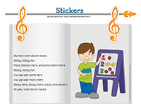 Songs & rhymes-Stickers