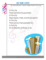 Songs & rhymes-The city