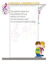 Songs & rhymes-Universal children's day
