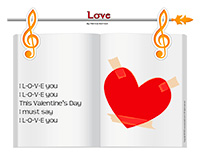 Songs & rhymes-Valentine's Day-Love letters