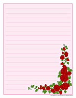 Stationery-Valentine's Day Roses