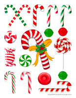 Stickers-Candy canes