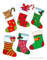 Stickers-Christmas stockings