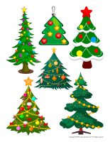Stickers-Christmas trees