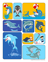 Stickers-Dolphins