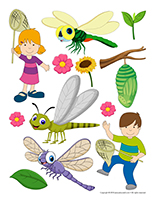 Stickers-Dragonflies