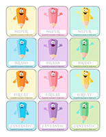 Stickers-Easter Pastel colors
