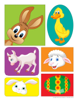 Stickers-Easter farm