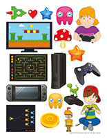 Stickers-Electronic games