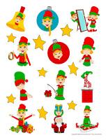 Stickers-Elf hunt-Fun & games