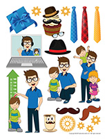 Stickers-Father's Day
