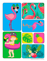 Stickers-Flamingoes