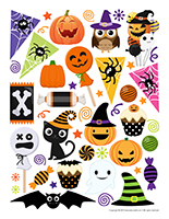 Stickers-Halloween-Decorations