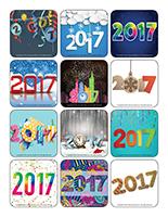 Stickers-Happy New Year 2017