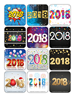 Stickers-Happy New Year 2018