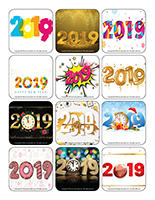 homemade stickers stickers happy new year 2019
