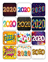 Stickers-Happy New Year 2020