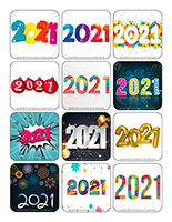 Stickers-Happy New Year 2021