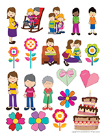 Stickers-Mother's Day