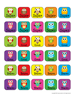 Stickers-Owls