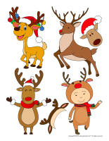 Stickers-Reindeer