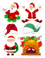 Stickers-Santa Claus