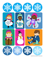 Stickers-Snowflakes