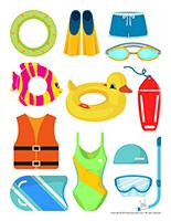 Stickers-Swimming