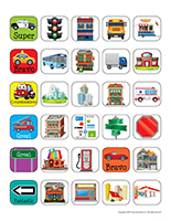 Stickers-The city