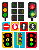 Stickers-Traffic light