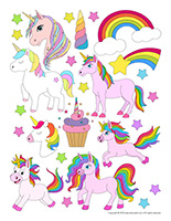 Stickers-Unicorns