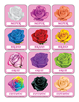 Stickers-Valentine's Day Roses