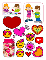 Stickers-Valentine's Day
