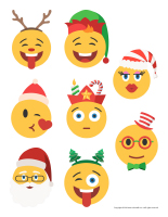 Stickers emojis-Christmas-1