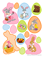Stickers for rewards-Easter 2021