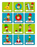 Stickers for rewards-Elf hunt-Fun & games