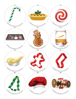 Story and memory game-Christmas-Baking