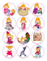 Story and memory game-Dolls