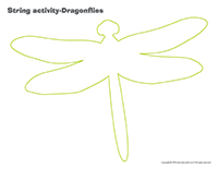 String activities-Dragonflies