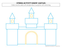 String activities-Snow castles