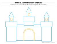 String activities-Snow castles